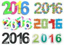 2016 text set Stock Photography