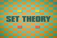 Text Set Theory Stock Photo