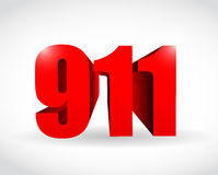 911 text sign concept illustration design. Over white Stock Photos