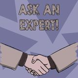 Text sign showing Ask An Expert. Conceptual photo confirmation that have read understand and agree with guidelines. Text sign showing Ask An Expert. Business vector illustration