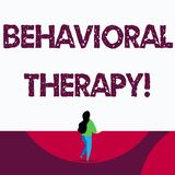 Text sign showing Behavioral Therapy. Conceptual photo help change potentially selfdestructive behaviors. Text sign showing Behavioral Therapy. Business photo vector illustration