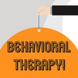 Text sign showing Behavioral Therapy. Conceptual photo help change potentially selfdestructive behaviors. Text sign showing Behavioral Therapy. Business photo royalty free illustration