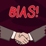 Text sign showing Bias. Conceptual photo inclination or prejudice for or against one demonstrating group Businessmen. Text sign showing Bias. Business photo vector illustration