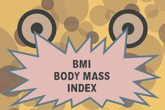 Text sign showing Bmi Body Mass Index. Conceptual photo body fat based on weight and weight measurement.  stock illustration