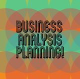 Text sign showing Business Analysis Planning. Conceptual photo Collection of tasks that need to be completed Circles vector illustration