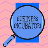 Text sign showing Business Incubator. Conceptual photo company that helps new and startup companies to develop Round. Text sign showing Business Incubator vector illustration