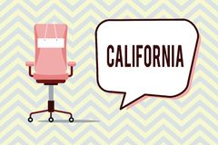 Text sign showing California. Conceptual photo State on west coast United States of America Beaches Hollywood.  vector illustration