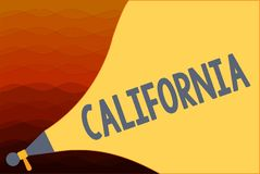 Text sign showing California. Conceptual photo State on west coast United States of America Beaches Hollywood.  stock illustration