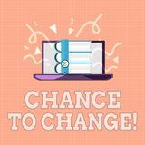 Text sign showing Chance To Change. Conceptual photo The opportunity for transformation New Business Ideas.  vector illustration