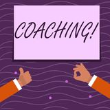 Text sign showing Coaching. Conceptual photo Prepare Enlightened Cultivate Sharpening Encourage Strenghten Two. Text sign showing Coaching. Business photo vector illustration