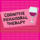 Text sign showing Cognitive Behavioral Therapy. Conceptual photo Psychological treatment for mental disorders.  royalty free illustration