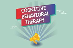 Text sign showing Cognitive Behavioral Therapy. Conceptual photo Psychological treatment for mental disorders.  vector illustration