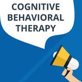 Text sign showing Cognitive Behavioral Therapy. Vector illustration stock illustration