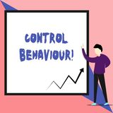 Text sign showing Control Behaviour. Conceptual photo Exercise of influence and authority over huanalysis conduct View. Text sign showing Control Behaviour royalty free illustration