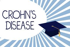 Text sign showing Crohn s is Disease. Conceptual photo inflammatory disease of the gastrointestinal tract.  royalty free illustration