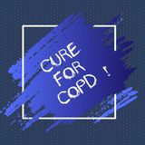 Text sign showing Cure For Copd. Conceptual photo Medical treatment over Chronic Obstructive Pulmonary Disease. Text sign showing Cure For Copd. Conceptual vector illustration