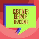 Text sign showing Customer Behavior Tracking. Conceptual photo Action that a user takes related to your company Stack of. Speech Bubble Different Color Blank vector illustration
