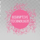 Text sign showing Disruptive Technology. Conceptual photo one that displaces an established technology Disarrayed and. Text sign showing Disruptive Technology royalty free illustration