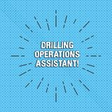 Text sign showing Drilling Operations Assistant. Conceptual photo supervises the work done on the drill floor Thin Beam royalty free illustration