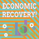 Text sign showing Economic Recovery. Conceptual photo rise of business activity signaling the end of a recession vector illustration