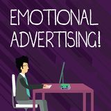 Text sign showing Emotional Advertising. Conceptual photo persuasion method used to create emotional feedback. Text sign showing Emotional Advertising. Business vector illustration