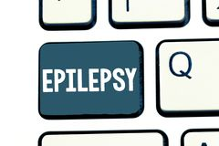 Text sign showing Epilepsy. Conceptual photo Fourth most common neurological disorder Unpredictable seizures.  royalty free stock image