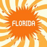 Text sign showing Florida. Conceptual photo State in southeastern region of United States Sunny place Beaches.  royalty free illustration