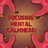 Text sign showing Focusing Mental Calmness. Conceptual photo free the mind from agitation or any disturbance Starfish photo on. Four Corners with Colorful stock illustration