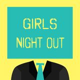 Text sign showing Girls Night Out. Conceptual photo Freedoms and free mentality to the girls in modern era.  royalty free illustration