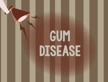 Text sign showing Gum Disease. Conceptual photo Inflammation of the soft tissue Gingivitis Periodontitis.  stock illustration