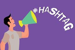 Text sign showing Hashtag. Conceptual photo Internet tag for social media Communication search engine strategy