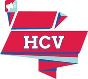 Text sign showing Hcv. Conceptual photo Infective agent that cause the inflammation of the liver Viral infection stock illustration