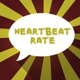 Text sign showing Heartbeat Rate. Conceptual photo measured by number of times the heart contracts per minute.  vector illustration