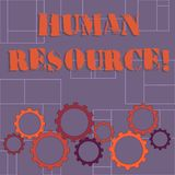 Text sign showing Huanalysis Resource. Conceptual photo the process of hiring and developing employees Colorful Cog. Text sign showing Huanalysis Resource vector illustration