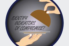 Text sign showing Identify Indicators Of Compromise. Conceptual photo Detect malware online attacks hacking Hu analysis royalty free illustration