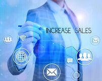 Text sign showing Increase Sales. Conceptual photo a high number of customers completed the sales cycle