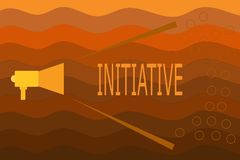 Text sign showing Initiative. Conceptual photo Ability to assess and initiate things independently Motivation.  stock illustration