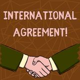 Text sign showing International Agreement. Conceptual photo document signed by countries want make new rules Businessmen. Text sign showing International vector illustration