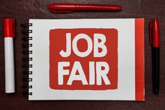 Free Text Sign Showing Job Fair. Conceptual Photo An Event Where A Person Can Apply For A Job In Multiple Companies Important Ideas Hig Royalty Free Stock Image - 121607746
