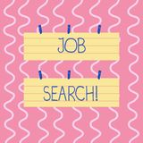 Text sign showing Job Search. Conceptual photo act of looking for employment due to unemployment underemployment Two. Text sign showing Job Search. Business stock illustration