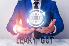Text sign showing Leaky Gut. Conceptual photo A condition in which the lining of small intestine is damaged.