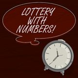 Text sign showing Lottery With Numbers. Conceptual photo game of chance in which showing buy numbered tickets Blank. Color Thought Speech Bubble with Outline vector illustration