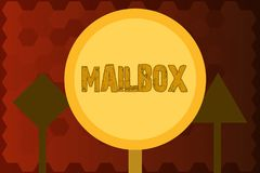 Text sign showing Mailbox. Conceptual photo Box mounted on post where mail is delivered Computer file for email.  vector illustration