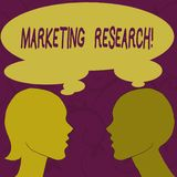 Text sign showing Marketing Research. Conceptual photo process of determining the viability of a new service Silhouette vector illustration