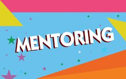 Text sign showing Mentoring. Conceptual photo To give advice or support to a younger less experienced demonstrating.  vector illustration