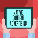 Text sign showing Native Content Advertising. Conceptual photo Ad experience follows the natural form and role Hu vector illustration