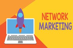 Text sign showing Network Marketing. Conceptual photo Pyramid Selling Multi level of trading goods and services. Text sign showing Network Marketing. Business vector illustration