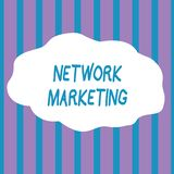 Text sign showing Network Marketing. Conceptual photo Pyramid Selling Multi level of trading goods and services Seamless. Text sign showing Network Marketing vector illustration
