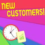 Text sign showing New Customers. Conceptual photo an entity that has not previously purchased one s is goods Layout Wall. Text sign showing New Customers vector illustration