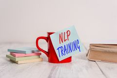 Text sign showing Nlp Training. Conceptual photo the study of the structure of subjective experience of a demonstrating